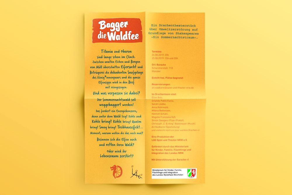 """""""Bagger die Waldfee"""" Flyergestaltung – ein Projekt von Simon Sleegers"""