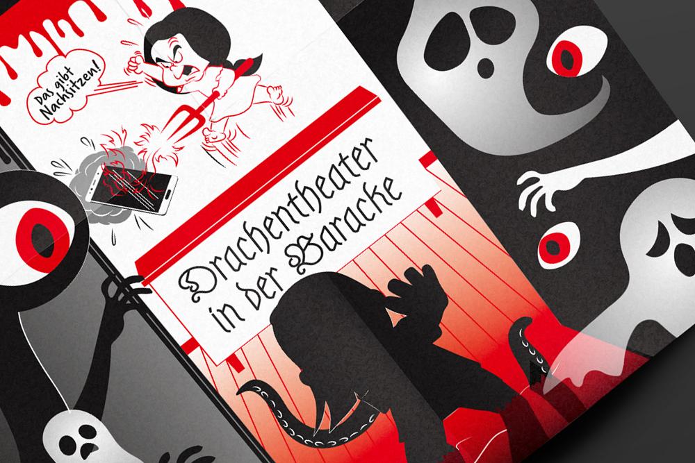 Drachentheater Flyer – ein Projekt von Simon Sleegers