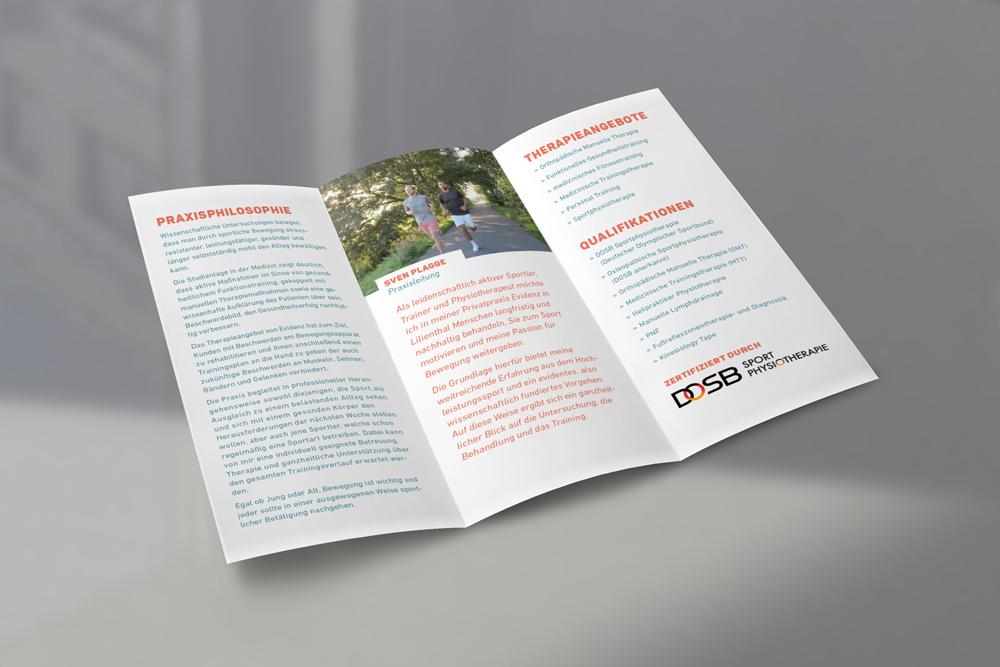 EVIDENZ Privatpraxis für Physiotherapie und Training – Konzeption und Corporate Design – ein Projekt von Simon Sleegers