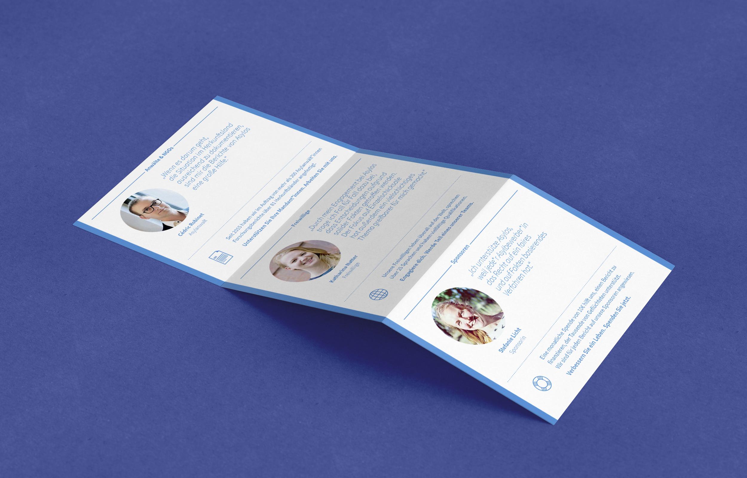 """""""Asylos - Research for Asylum"""" strategische Beratung, Konzeption und Gestaltung von Werbematerial, Flyer, Sticker – ein Projekt von Simon Sleegers"""